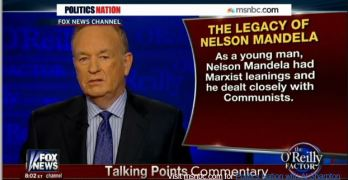 Al Sharpton Bill O'Reilly Nelson Mandela