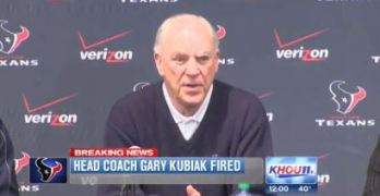 Gary Kubiak Texans Head Coach Fired