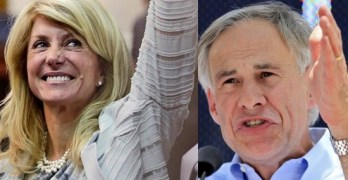 Wendy Davis Greg Abbott equal pay women