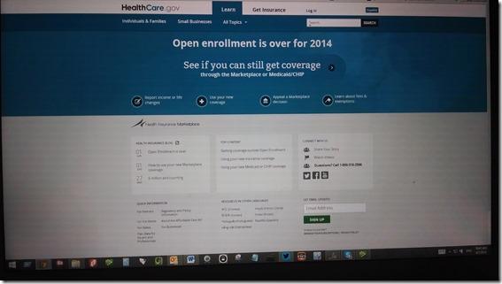 Obamacare healthcare.gov