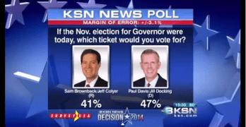 Shocker in Kansas: 104 Republican Officials endorse Kansas Democratic challenger to Republican Governor Sam Brownback, Paul Davis