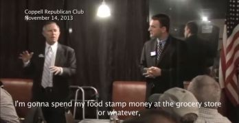 GOP Texas county judge candidate wants blacks to 'spend their food stamp money' and not vote (VIDEO)