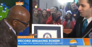 Watch Al Roker get new Guinness World Record #Rokerthon (VIDEO)