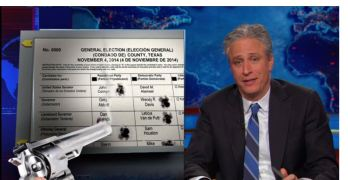 Jon Stewart GOP voter Suppression scare midterm