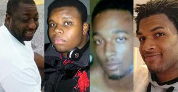 Michael Brown, Eric Garner,John Crawford III,Ezell Ford,,Levar Jones