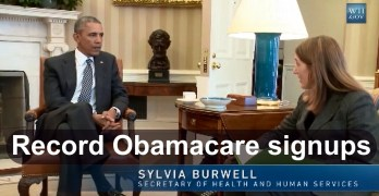 Affordable Care Act (Obamacare) milestone reached with record signups (VIDEO)