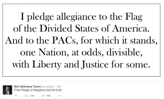 Neil deGrasse Tyson Pledge of Allegiance