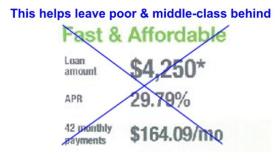 Why the poor and middle-class are unable to get ahead loan rip-offs