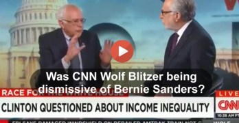 Did CNN Wolf Blitzer snear at Bernie Sanders plan to restore middle-class