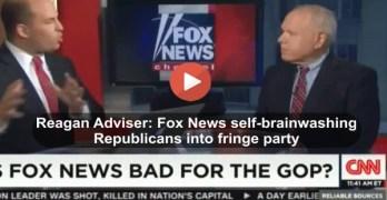 Fox News self-brainwashing Republicans into a radical fringe party according to Ex-Reagan advisor