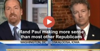 Rand Paul making more sense than most Republicans