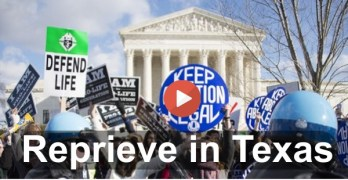 Supreme Court puts Texas draconian abortion law on hold (VIDEO)