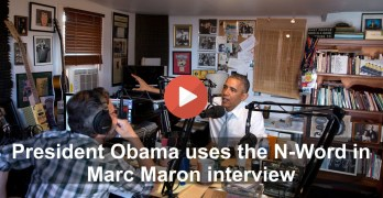 Barack Obama uses N-word in Marc Maron's podcast interview