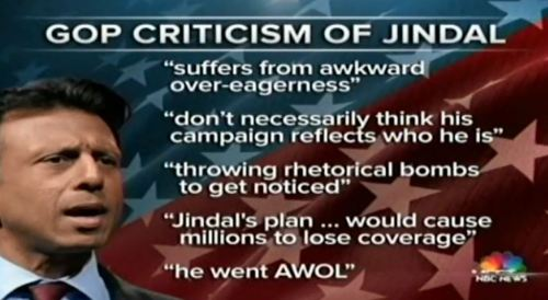 Bobby Jindal criticisms