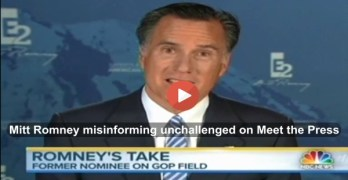 Chuck Todd allows Mitt Romney the use of Meet The Press to lie without a challenge