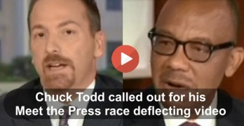Chuck Todd called out on air for showcasing black gun convicts