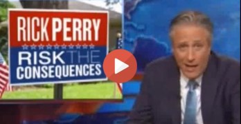Jon Stewart makes fun of Texas Rick Perry 2nd Run for the Presidency (VIDEO)