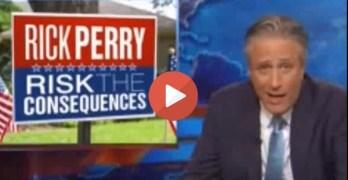 Rick Perry Jon Stewart