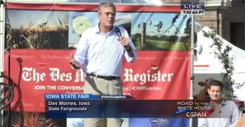 Jeb Bush channels brother's 'You are either with us or against us' moment at the Iowa State Fair (VIDEO)