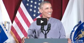 President Obama scolds republicans in labor day speech