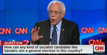 Bernie Sanders schooled red-bating Cooper & Clinton on Democratic Socialism 2