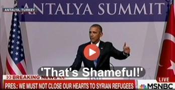 Obama praises George W. Bush as he slams anti-Muslim religious zealots as shameful