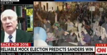 Bernie Sanders will be President says 100% accurate mock election.