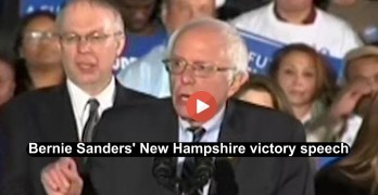 Bernie Sanders New Hampshire victory speech (VIDEO) 2