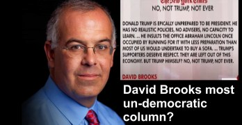 New York Times Conservative Columnist David Brooks
