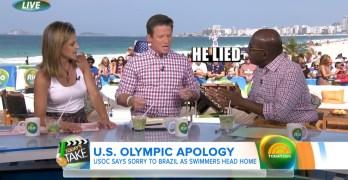 Al Roker confronts Ryan Lochte apologist, 'HE LIED'