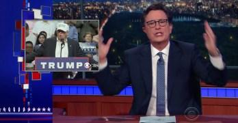 Stephen Colbert ridicules Trump appeal to black voters