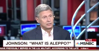 Libertarian Presidential Candidate Gary Johnson on Morning Joe, 'What is Aleppo?' (VIDEO)