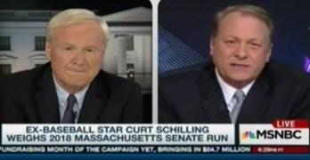 Does not go well when Chris Matthews grills Curt Schilling on statements (VIDEO)