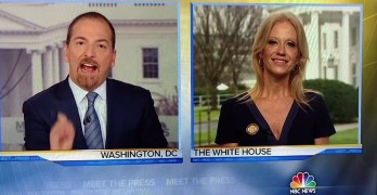 Chuck Todd rattles Kellyanne Conway on falsehoods: You just laughed at me (VIDEO)