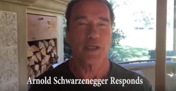 Arnold Schwarzenegger epic response to Trump Apprentice rating diss (VIDEO)