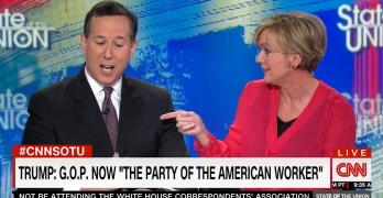 Fmr. Gov. Granholm stops Fmr. Sen. Santorum cold using his Sanders policy support (VIDEO)