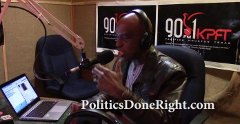 My exchange with a Libertarian caller to Politics Done Right (VIDEO)