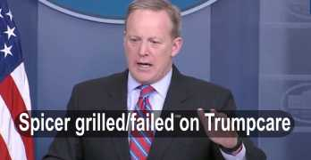 Sean Spicer unable to give coherent answers to reporters grilling questions (VIDEO)