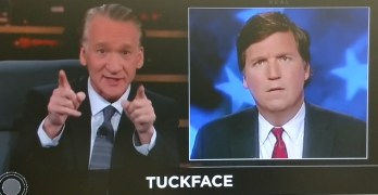 Bill Maher makes fun of Tucker Carlson's facial expressions