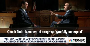 Chuck Todd thinks Congresspeople woefully underpaid (VIDEO)