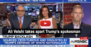 Ali Velshi takes apart Trump's spokesman: You can't just lie on TV (VIDEO)