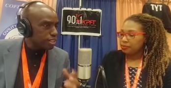 Interview with DailyKos writer Kelly Macias at Netroots Nation