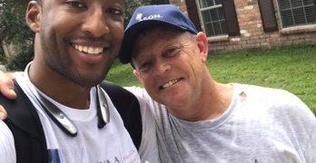 Progressive Joshua Butler engages Conservative voter