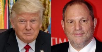 Women predetors Donald Trump and Harvey Weinstein