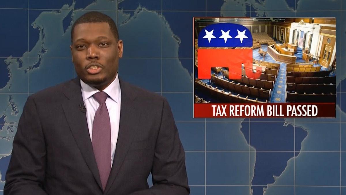 SNL Michael Che & Colin Jost turns Republican tax cut scam into the joke it is (VIDEO)