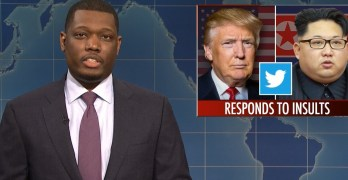 SNL Michael Che uses Trump's latest tweet to show him as infantile & illogical (VIDEO)
