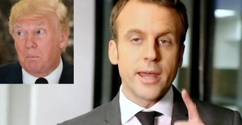 French President sticks it to Donald Trump 2