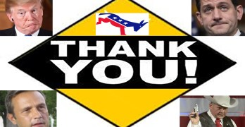 And the Democrats say, 'Thank you'