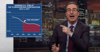 John Oliver exposes the American tax system & Trump's Tax Cut Scam