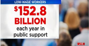 Stephanie Ruhle slams corporation low wages putting their employees on welfare (VIDEO)